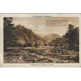 Carte Postale Ancienne L'auvergne Po�tique Vall�e D'enfer Et Aiguilles Du Diable