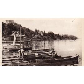 carte postale ancienne thonon les bains haute savoie le port les barques. Black Bedroom Furniture Sets. Home Design Ideas