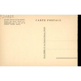 Carte Bourgogne Liberte.Carte Postale De Dijon Cote D Or Hotel De Ville Palais Des Etats