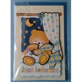 Carte Postale Double Ours En Peluche Nounours Rare Joyeux Bon