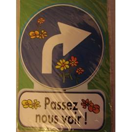 Carte Postale Humoristique Coquine, Passez Nous Voir Forme Panneau Signalisation, Enveloppe Verte
