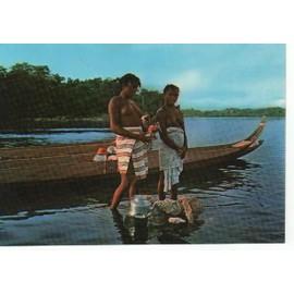 carte postale jeune femme bosch fleuve maroni guyane fran aise. Black Bedroom Furniture Sets. Home Design Ideas