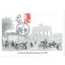 Carte Postale Obliteration Visite De Francois Mitterrand A Berlin 11 05 87