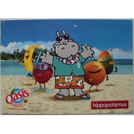 Carte Hippopotamus Italie 2.Carte Publicitaire Oasis Hippopotamus Au Verso Timbre Midi