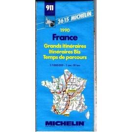 Carte Routière Michelin N° 911 : Grands Itinéraires - Itinéraires Bis