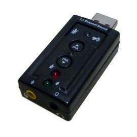 Carte son externe USB Soft 7.1 - CS-USB-71 + Serre-cable (paquet de 100) + Boite de vis pour l'integration informatique