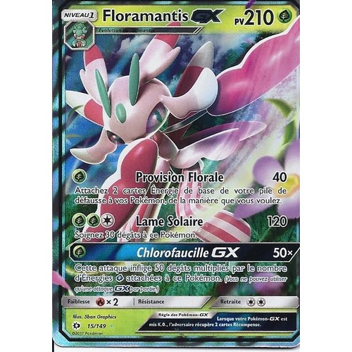Carte ultra rare floramantis gx 15 149 soleil et lune - Les pokemon rare ...