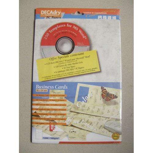Cartes De Visite 12 Feuilles 10 Soit 120 Decadry
