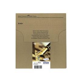 epson 16 multipack easy mail packaging pack de 4 14 7 ml noir jaune cyan magenta. Black Bedroom Furniture Sets. Home Design Ideas