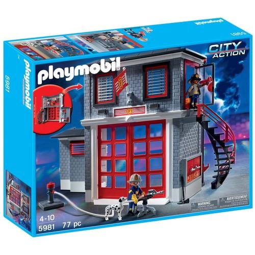 caserne de pompiers playmobil 5981 fire rescue station. Black Bedroom Furniture Sets. Home Design Ideas