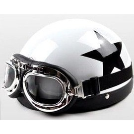 casque bol r tro moto scooter vespa harley biker cosplay style vintage anarchy. Black Bedroom Furniture Sets. Home Design Ideas