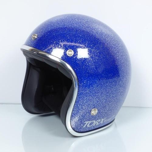casque bol torx wyatt glitter blue taille xs bleu paillet brillant moto vintage. Black Bedroom Furniture Sets. Home Design Ideas