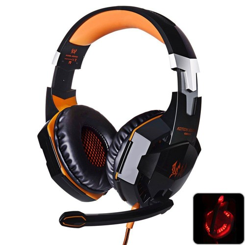 casque de jeu avec micro gaming st r o avec fil led pour pc ordinateur. Black Bedroom Furniture Sets. Home Design Ideas