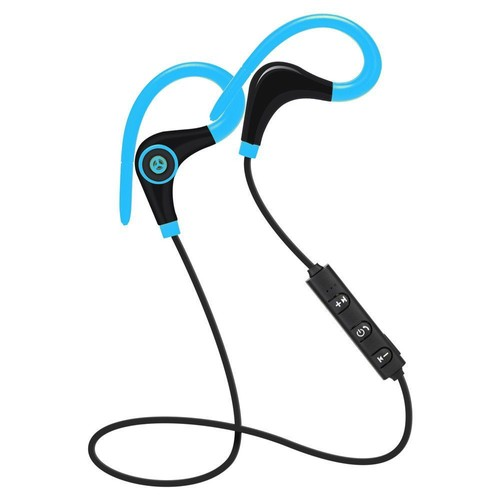 casque de sport couteur bluetooth 4 1 sans fil pour smartphone suppression du bruit bleu. Black Bedroom Furniture Sets. Home Design Ideas