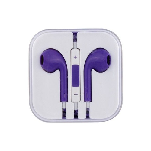 casque ecouteur iphone 5 violet kit pi ton avec bouton volume pas cher. Black Bedroom Furniture Sets. Home Design Ideas