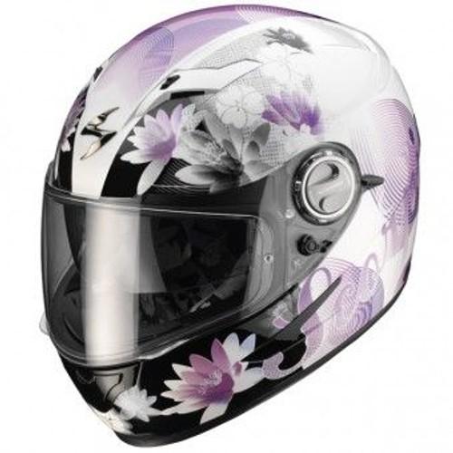 casque scorpion exo 500 air nelly blanc nacre violet achat et vente. Black Bedroom Furniture Sets. Home Design Ideas