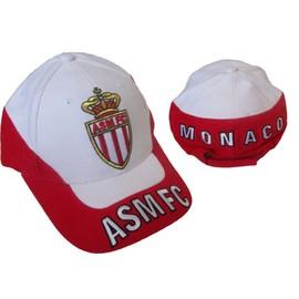 Casquette officielle as monaco asm football ecusson maillot brod blanche et rouge - Ecusson monaco ...