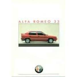Catalogue Alfa Romeo 33 - 1986