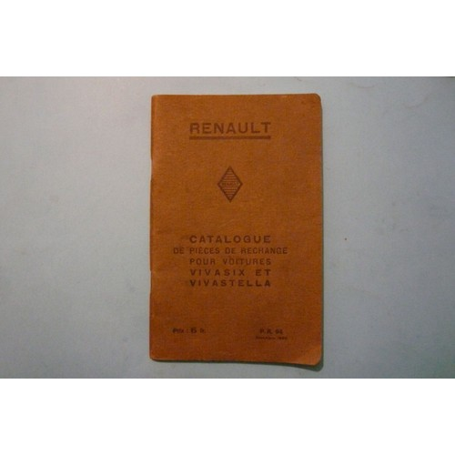 catalogue de pieces detachees renault vivasix et vivastella de 1930 de renault. Black Bedroom Furniture Sets. Home Design Ideas