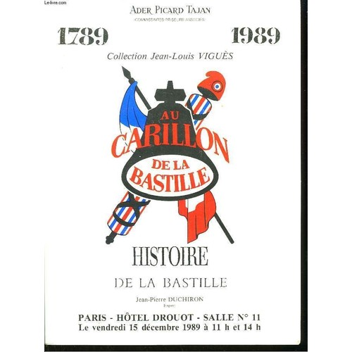 catalogue de vente aux ench res publiques collection jean louis vigu s carillon de la bastille. Black Bedroom Furniture Sets. Home Design Ideas