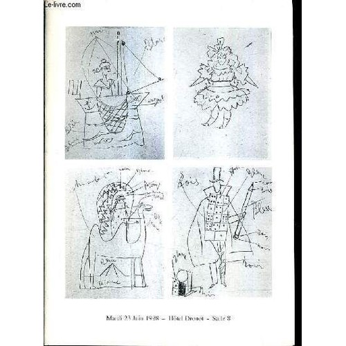 Catalogue de ventes aux encheres autographes dessins gravures ceramiques de - Hotel de ventes drouot ...