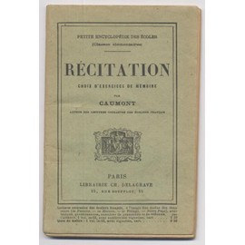 Recitation, Choix D'exercices De Memoire de Caumont