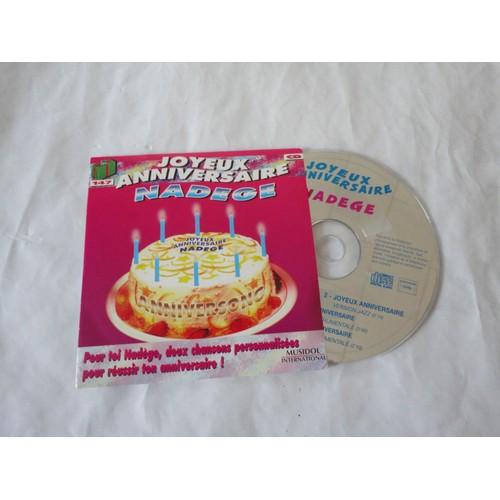 Cd Joyeux Anniversaire Nadege 4 Version Anniversong Cd Single