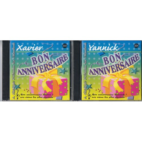 Cd Prenom Bon Anniversaire Yannick Ou Xavier Cd Album