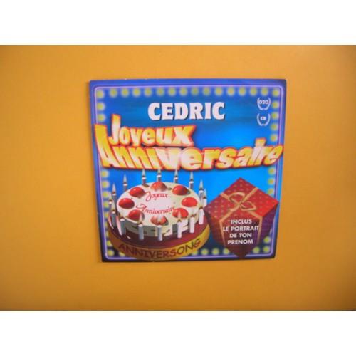 Cedric Cd Single Joyeux Anniversaire Cd Single