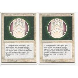 Cercle De Protection Vert - Lot De 2 Cartes 4 �me �dition 1995 Vf Bords Blancs