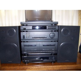 chaine hi fi philips as405cd 2x105 watts platine lecteur. Black Bedroom Furniture Sets. Home Design Ideas