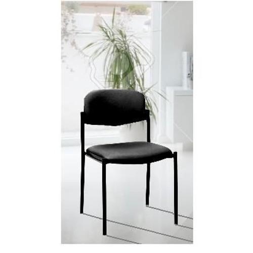 chaise acier textile visiteur accueil invite bureau sejour. Black Bedroom Furniture Sets. Home Design Ideas