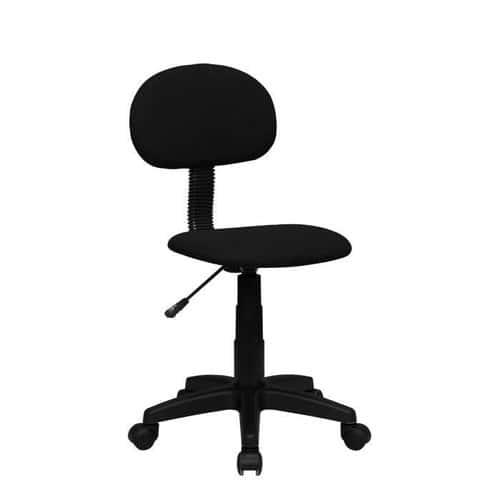 chaise dactylo de bureau en tissu sur roulette noire. Black Bedroom Furniture Sets. Home Design Ideas