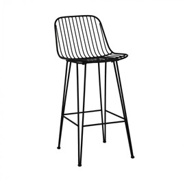 Chaise De Bar Design En Metal 67cm Ombra Pomax
