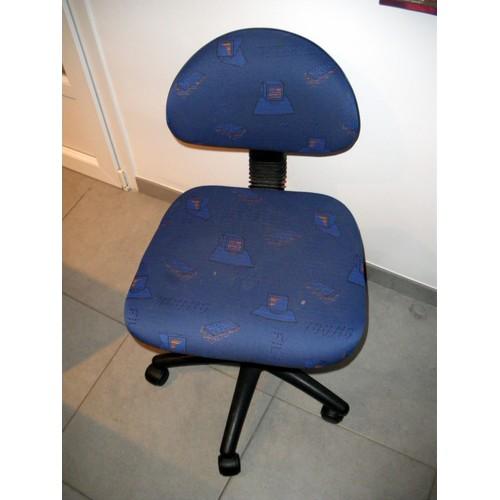 chaise de bureau roulettes pour enfant achat et vente. Black Bedroom Furniture Sets. Home Design Ideas