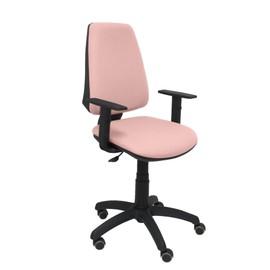 Chaise De Bureau Ergonomique Avec Contact Permanent Rglable En Hauteur Et Roues Parquet Assise Dossier Rembourrs Tissu Bali Couleur Rose Ple