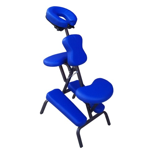 Chaise De Massage G7b Bleue En Acier Laque 8 Kg Amma Assis Shiatsu Tatouage Tattoo Pliable Table