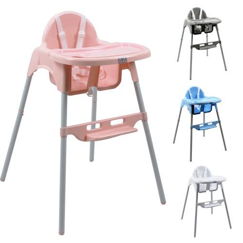 chaise haute b b r glable hauteur et tablette d lice rose monsieur b b. Black Bedroom Furniture Sets. Home Design Ideas