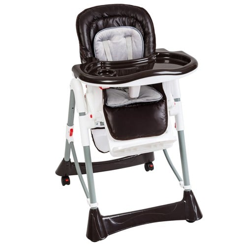 Tectake Chaise Haute Pour Bebe Enfant Grand Confort Pliable Securite A 5 Points Plateau Et Repose
