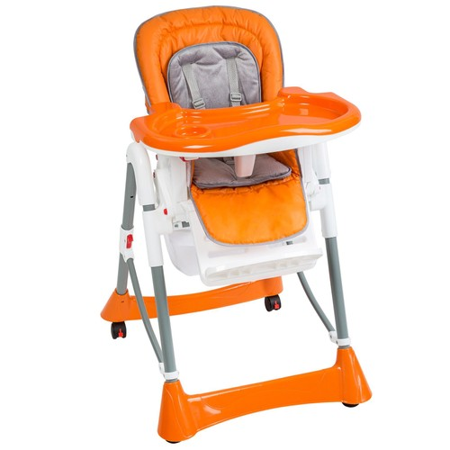 Chaise haute pour b b enfant grand confort orange pas cher for Chaise auto enfant