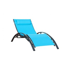 Chaise Longue Turquoise