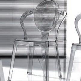 Chaise Transparente Grise Flore Lot De 4