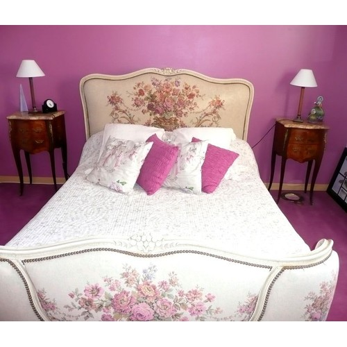 chambre coucher compl te style louis xv en bois de rose pas cher. Black Bedroom Furniture Sets. Home Design Ideas