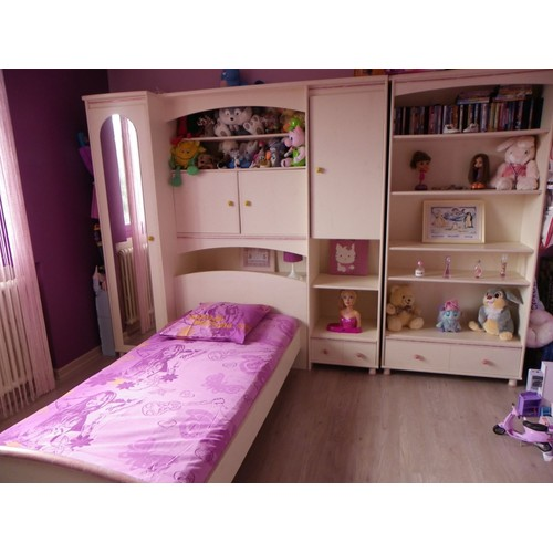 Chambre fille rose conforama for Chambre princesse conforama