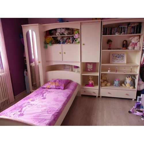 chambre enfant fille pas cher achat vente priceminister. Black Bedroom Furniture Sets. Home Design Ideas