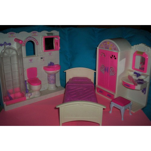 chambre et salle de bain barbie achat et vente. Black Bedroom Furniture Sets. Home Design Ideas