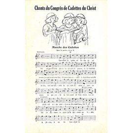 Petite annonce Chants Du Congrès De Cadettes Du Christ - collectif - 14000 CAEN