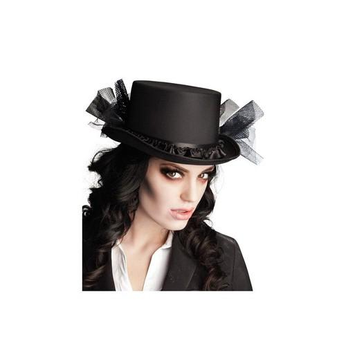 Chapeau Haut De Forme Noir Femme Halloween Taille Unique 02c327402f3