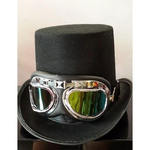 chapeau haute forme punk gothique lunette aviateur achat et vente. Black Bedroom Furniture Sets. Home Design Ideas