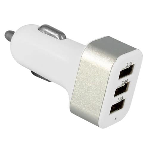 Chargeur Allume-Cigare Triple Usb 2.1 Amperes